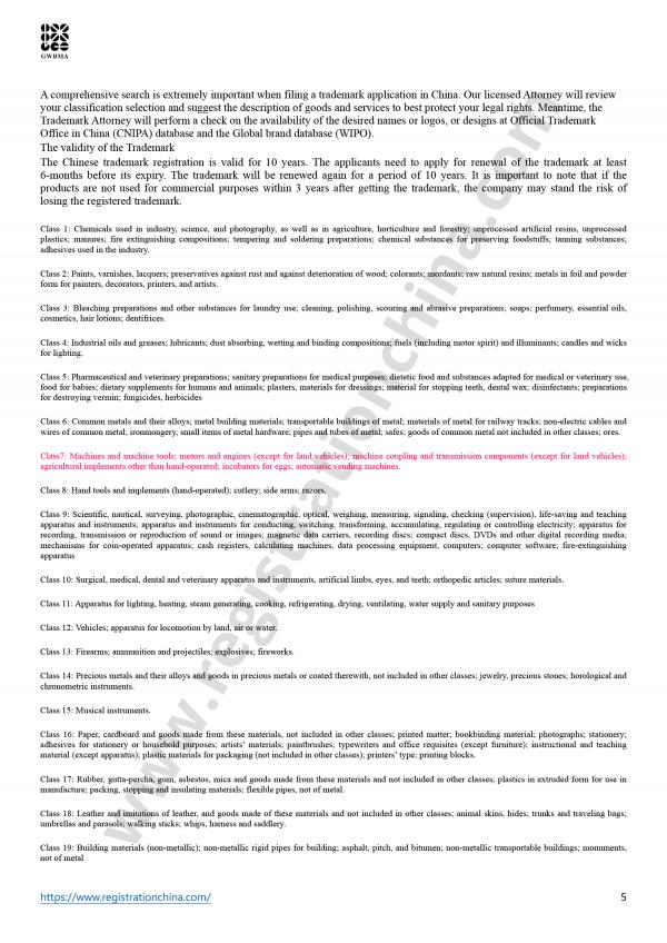 China Trademark Comprehensive Search Report (5)