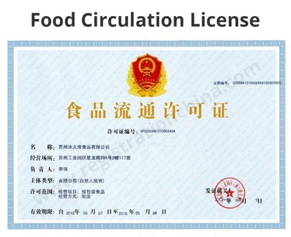 Food Circulation License